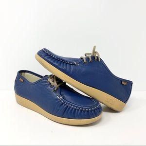 SAS Blue Siesta Leather Womens Shoes Size 9 W